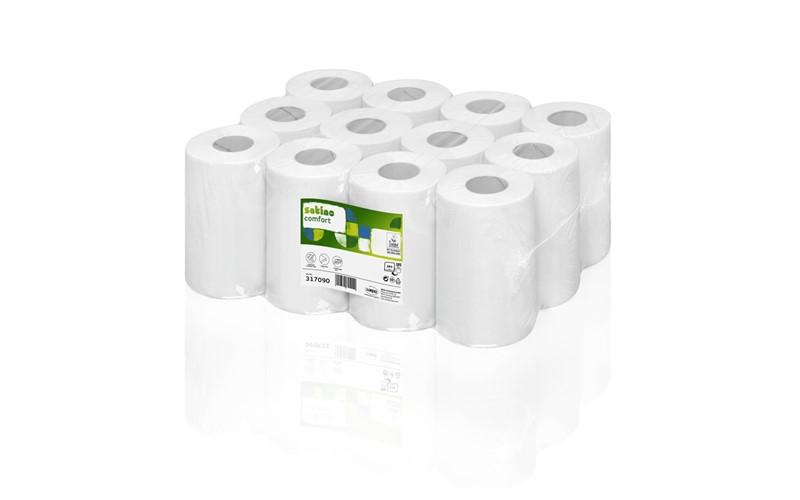 Mini rollen Comfort 68m 2 laags 12 rollen wit