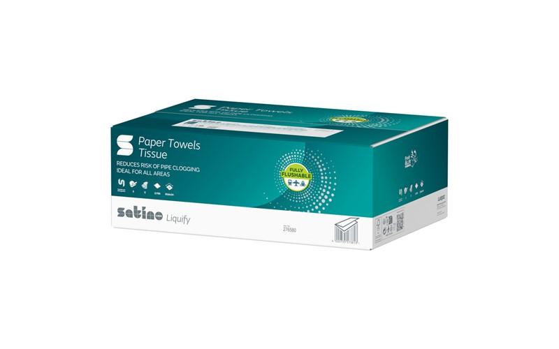 Handdoekjes liquify (Z) -20,6x24cm -2 laags-Cellulose- 3750 pièces