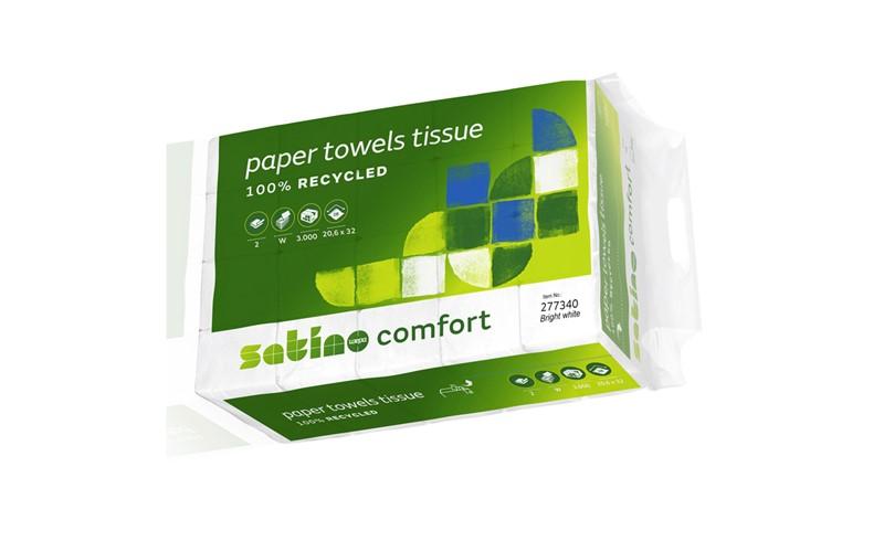 Handtuchpapier Comfort 20,6x32cm (W) 2lag. 3000 st.
