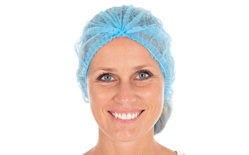 Haarschutz mit Klip Blau 100 St.