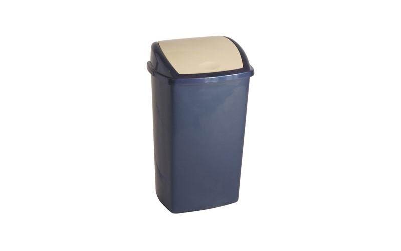 Abfallbehälter 50 Liter - Blau/Creme