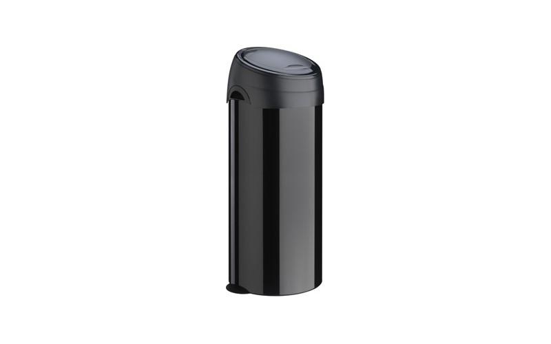 Runder Abfallbehälter mit Touchdeckel, 40 Liter