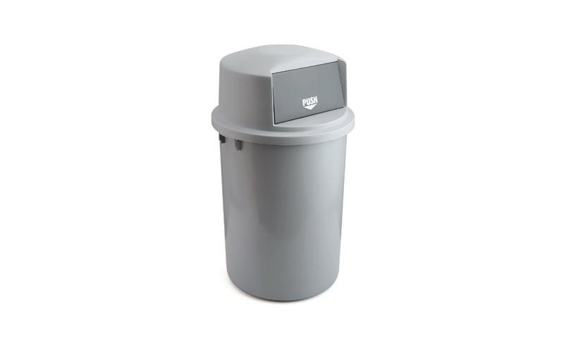 Abfallbehällter aus Kunststoff mit Klappdeckel - 126 Liter