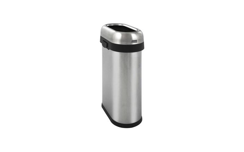 Slim Open Bin, Simplehuman - Inox matt - 50 Liter