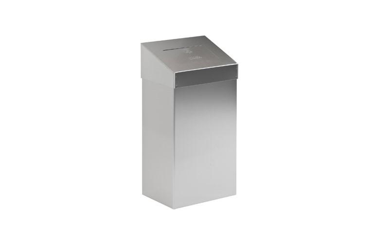 Abfallbehälter mit Pushdeckel - Inox matt - 18 Liter