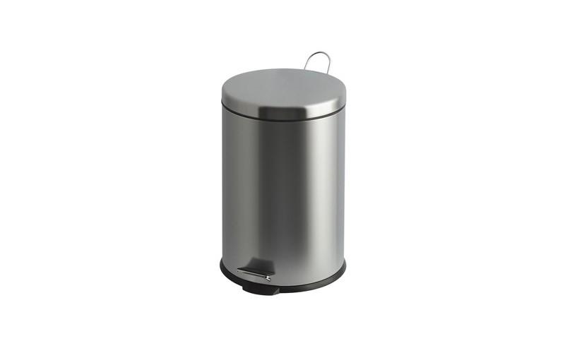 Tritt-Mülleimer - Inox - 30 Liter