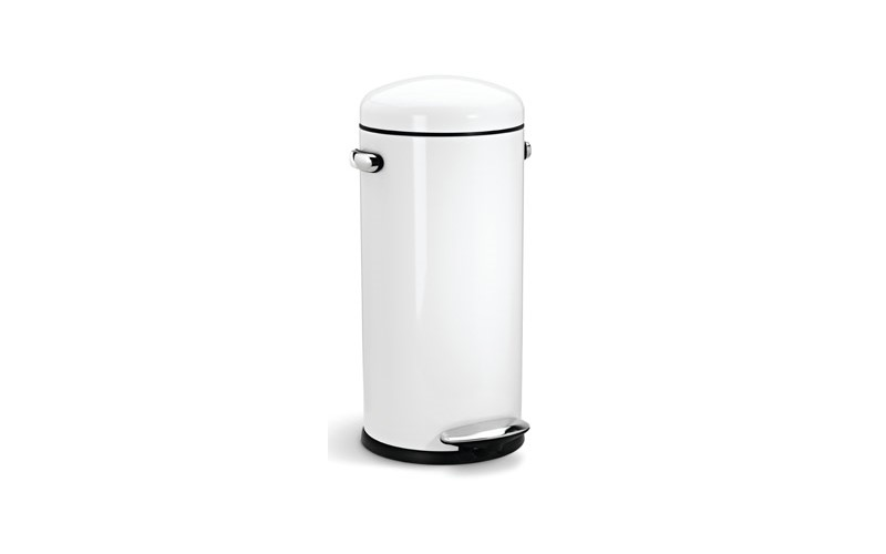 Round Retro Step Can 30 liter, Simplehuman