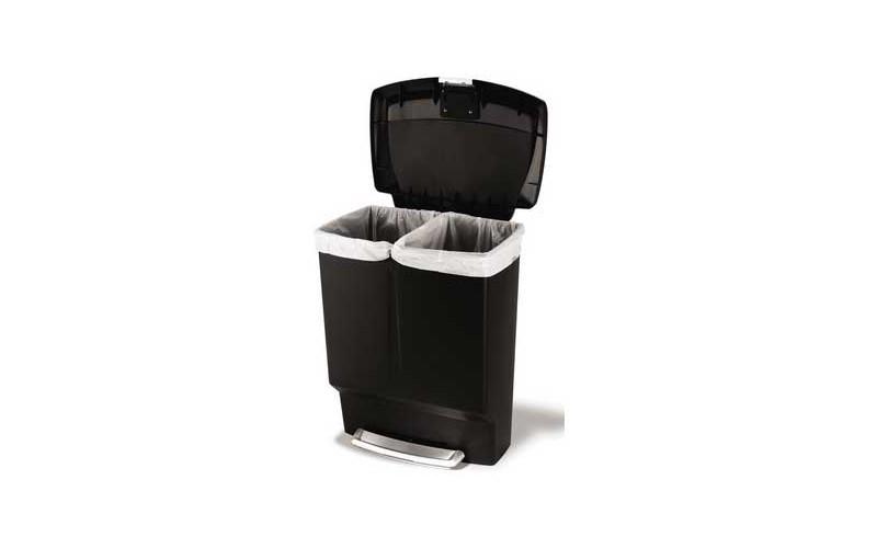Plastic Rectangular Recycler 60 Liter (30/30), Simplehuman