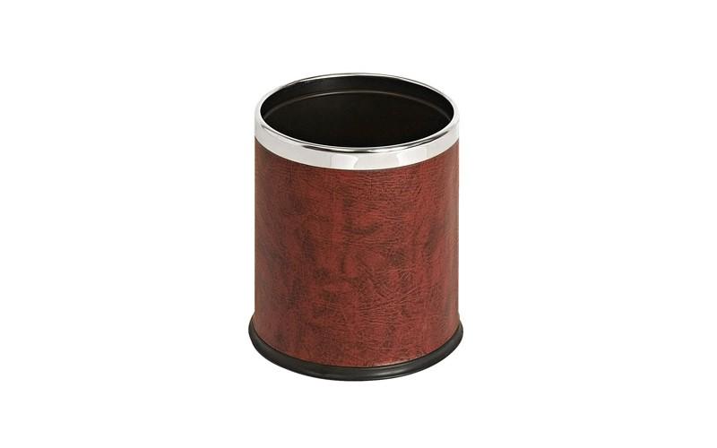 Doppelwandiger Papierkorb Lederoptik - 10 Liter