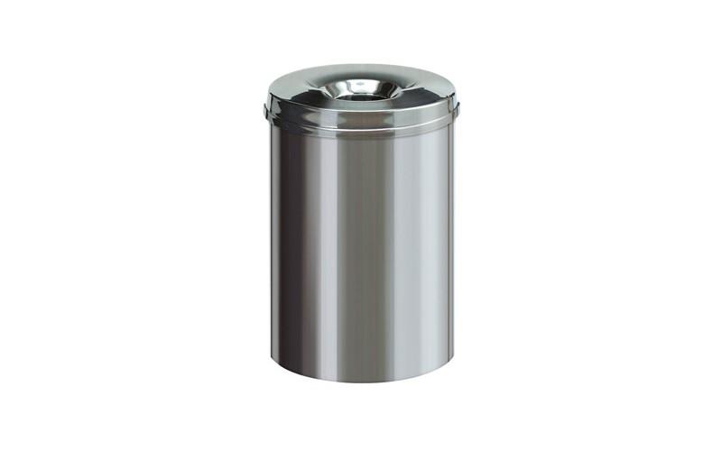 Feuerlöschender Papierkorb INOX - 30 Liter