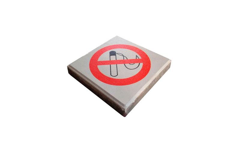 """Betonplaat - DropPit - """" Niet roken teken """""""
