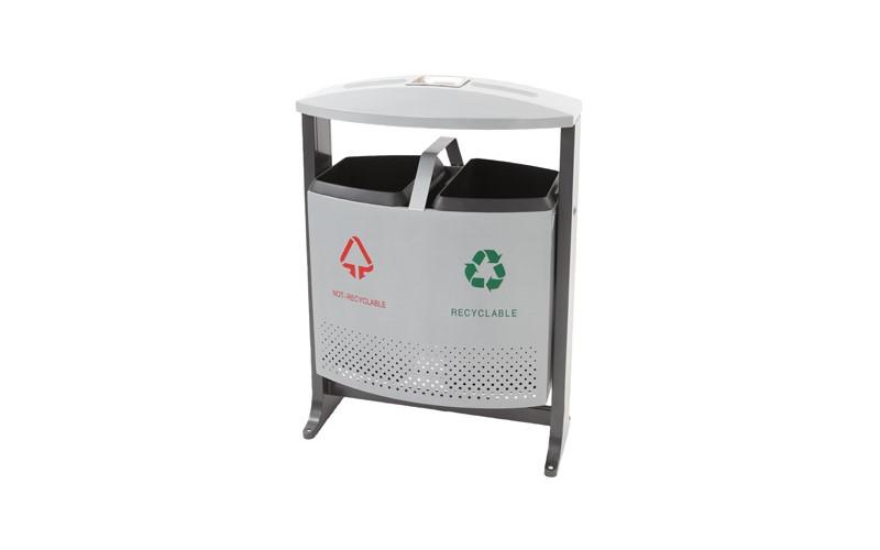 Abfallbehälter für draußen Abfalltrennung 2x 39, EKO