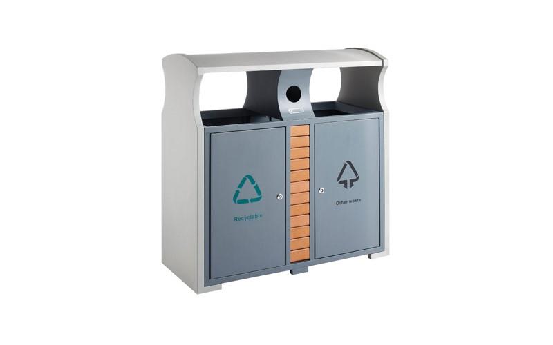 Abfallbehälter für Abfalltrennung draußen, EKO