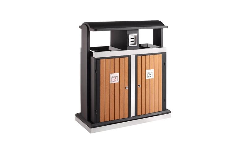 Abfallbehälter für Abfalltrennung draußen 2x50, EKO