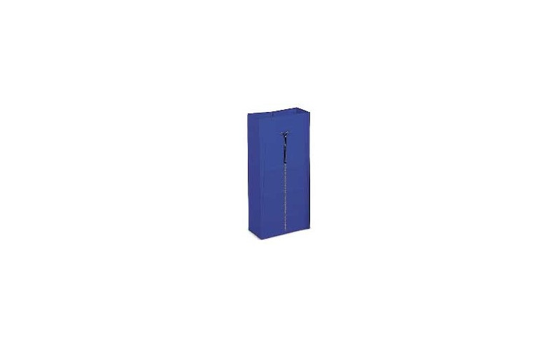 Plastiekzak blauw + zip - 120 L