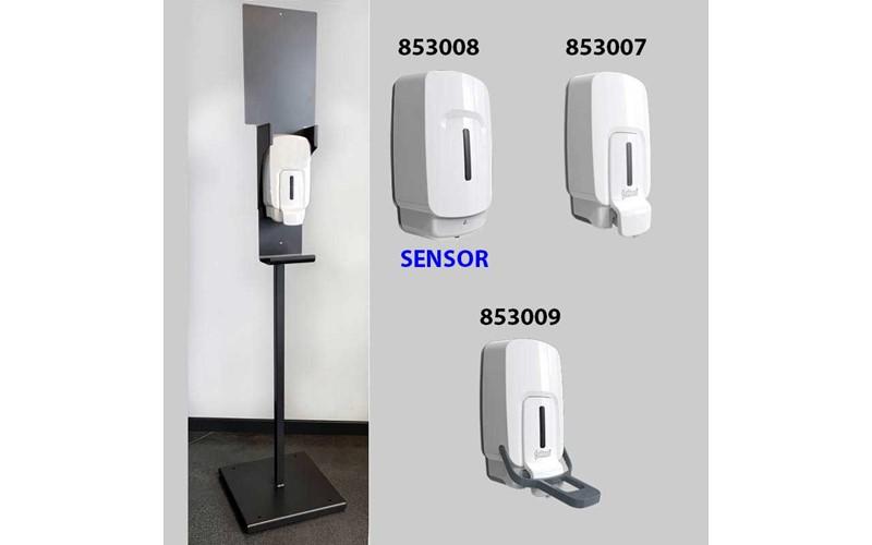 Floorstand Desinfektions Station - Spender mit Armbedienung