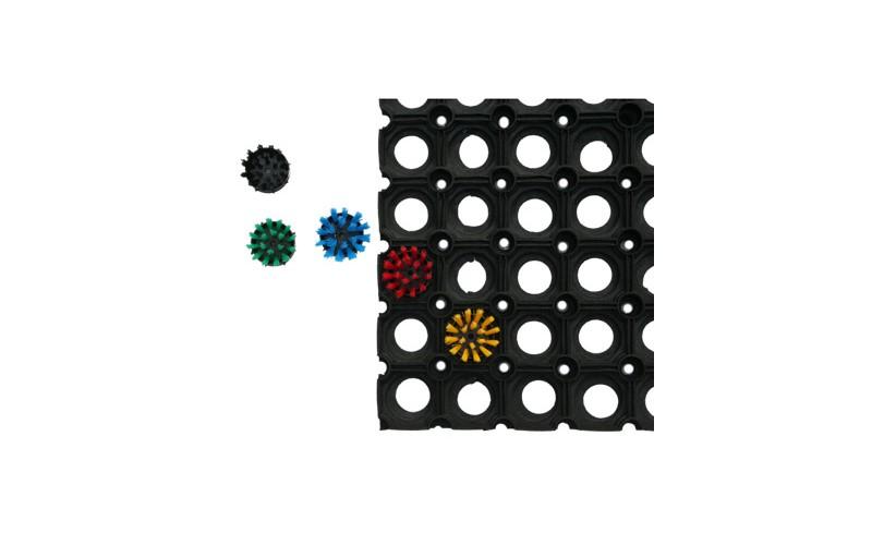 Mini-borstel voor rubbermat - Versch. kleuren