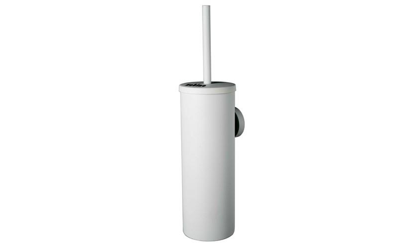 Toilettenbürste mit Behälter Metall weiss - SATINO SMART